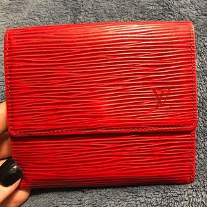 Red Epi leather Louis Vuitton wallet